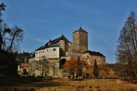 parapet wall: The Old castle Kost in Czech Republic
