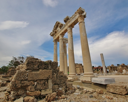 archaeology: Old ruins in Side, Turkey - archaeology background