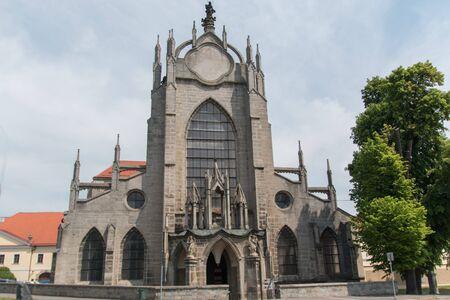 john the baptist: Church Of Lady And Saint John Baptist Is in Kutna Hora In Czech Republic Stock Photo