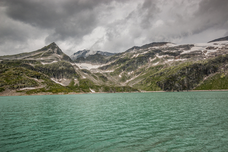View from Weissee lake in Hohe tauern in Austria, Europe