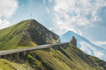Grossglockner mountain dangerous road at summer time in Austria