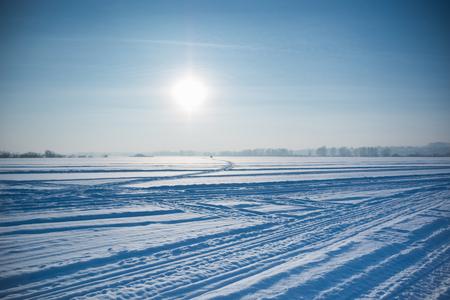 desert sun: Ice cold desert sun and winters day, Siberia, Russia