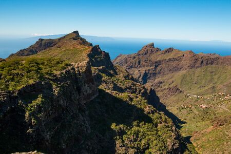 Mountain landscape on Tenerife, Canary Islands, Spain Stock Photo