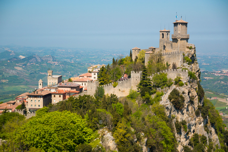 The Guaita fortress is the oldest and the most famous tower on San Marino