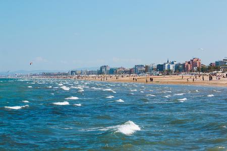 adriatico: A beach in Adriatic sea in Rimini, Italy