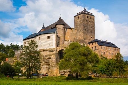 Kost 城、ボヘミアのゴシック様式の城の眺め