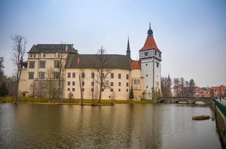 Water Blatna castle in southern Bohemia in Czech Republic