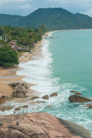 Beautiful tropical beach Lamai in Koh Samui, Thailand.
