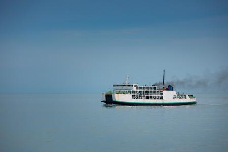 White passenger ferry boat to Samui island