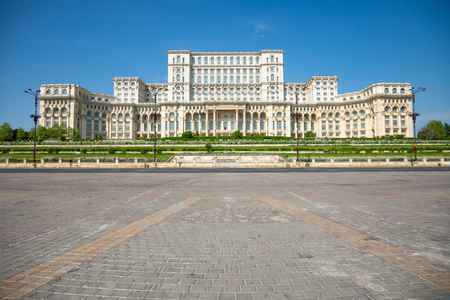 Building of Romanian parliament in Bucharest is the second largest building in the world