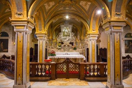 Bari, Italy - 5.05.2018: Interior of Church of San Marko dei Veneziane in old town Bari, Italy Editorial