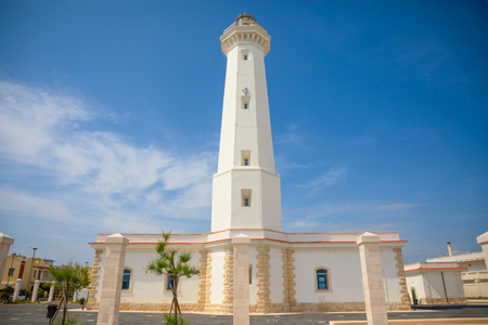 White Lighthouse of Torre Canne, Fasano in south of Italy Stok Fotoğraf
