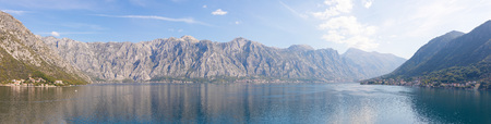 Kotor bay seascape, nature backgroung, Kotor in Montenegro 免版税图像