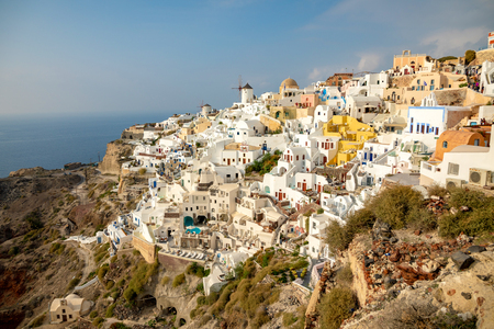 White architecture of Oia village on Santorini island in Greece