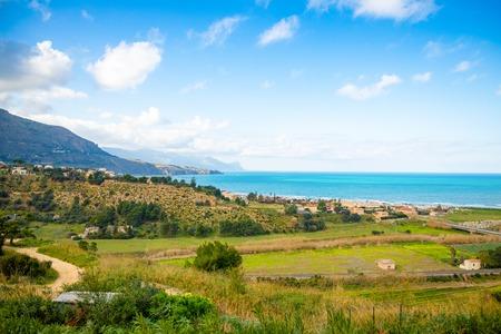 Beautiful seaview from Alcamo Marina in Sicily in Italy Foto de archivo - 119250164