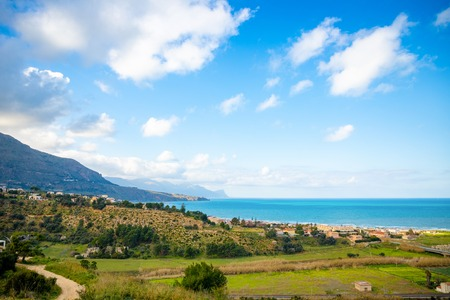 Beautiful seaview from Alcamo Marina in Sicily in Italy Foto de archivo - 119250171