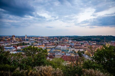 Panoramic view on the old town of Brno, Czech Republic, Europe Stock Photo