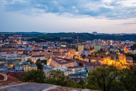 Panoramic view on the old town of Brno, Czech Republic, Europe