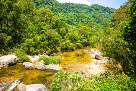River Landscape, nature of the southern part of Hainan Province in China