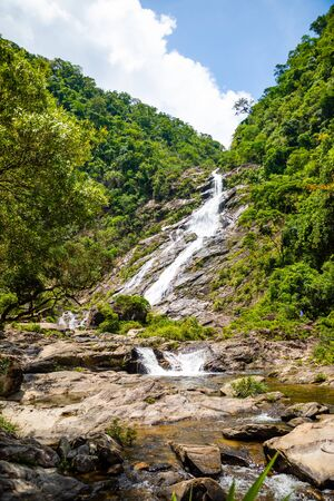 Tonanri Waterfall Landscape, nature of the southern part of Hainan Province in China Stock Photo