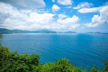 Coast Landscape, Sanya, Hainan Province, China, a Tropical Tourism Paradise in Southeat Asia. Aerial View Stock Photo