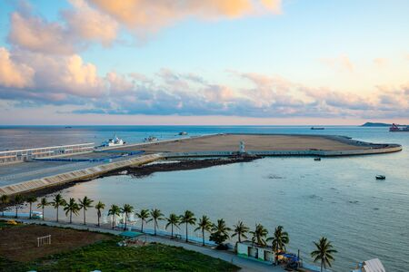 New Artificial Archipelago next to The Phoenix Island located in the Southeast Part of Sanya Bay, Hainan in China