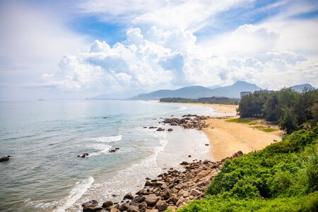Beautiful view of Shimei Bay Beach in Hainan, China Stock Photo