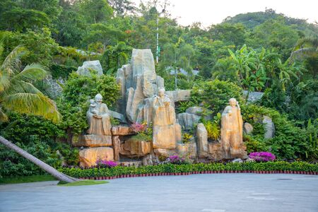 Statue in Luhuitou Park, Sanya, Hainan province in China
