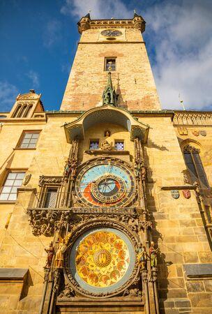 Astronomical Clock or Orloj in the Old Town of Prague in Czech Republic 版權商用圖片