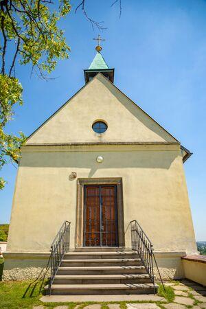 Saint Claire Chapel in botanic garden Troja, Prague, Czech Republic Stock Photo