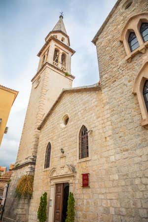 Saint Ivan Church in Budvas old town, Montenegro.