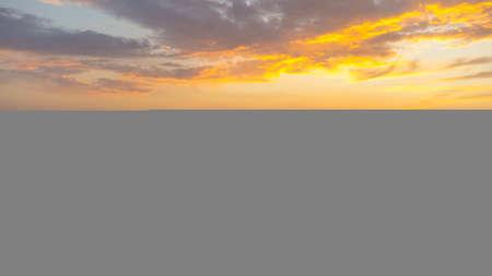Sunset over the Adriatic sea in Montenegro. Last minutes of sunset.