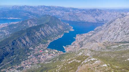 Aerial view over the Kotor Bay in Montenegro Reklamní fotografie