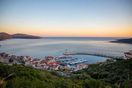 Aerial view of Lustica Bay in Montenegro. Reklamní fotografie