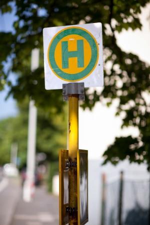 symbolization: European roadside signage marking hospital location, germany