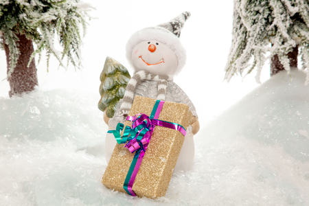 somebody: The Snowman is waiting for somebody to pick up the Christmas Present