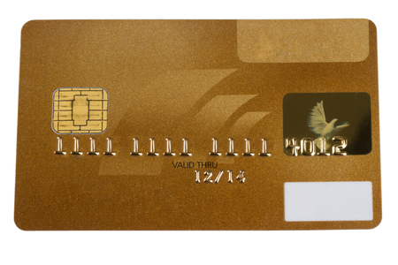 blanked: A golden Creditcard blanked for several usages