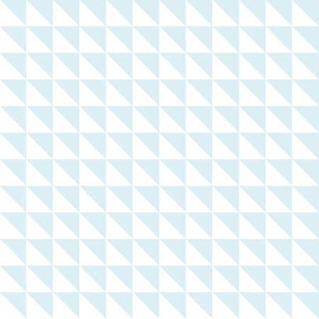 Repeating background of triangles and squares. White and blue colors.