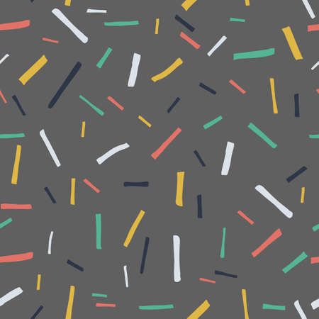 Gray background with colorful stripes. Vector seamless pattern, can be used for fabrics, wallpaper, web, card.