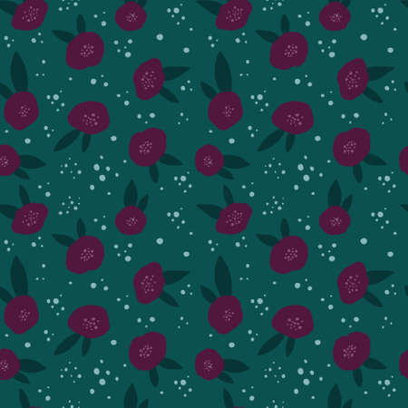 Repeating abstract flowers background. Can be used for postcards, invitations, advertising, web, textile and other. Vettoriali