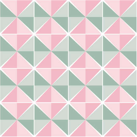 Light color seamless background. Consists of pinkish and greenish triangles. Can be used for fabrics, wallpapers, web design and more.