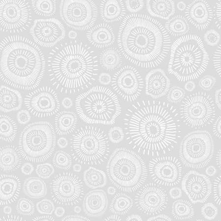 Monochrome abstract pattern. Background of decorative hand-drawn suns.
