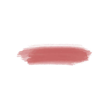 Abstract watercolor brush stroke. Creative red illustration. Smear brush on a white background.