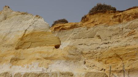 Geology Of Sandstone Rockface 版權商用圖片