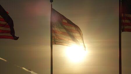 Us Flag At Night