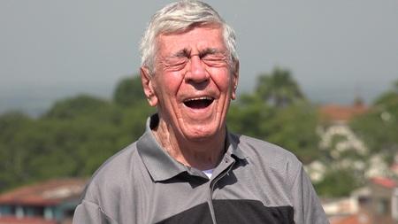 Happy Old Man of Senior Citizen Stockfoto