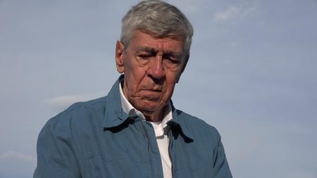 tearful: Sad Crying Tearful Elderly Old Man