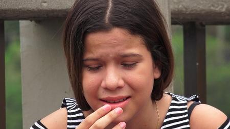 hopeless: Unhappy And Hopeless Teen Girl Stock Photo