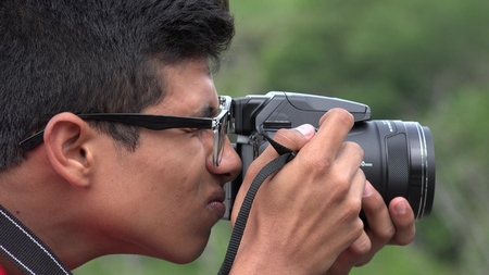 Male Teen Hobby Photographer