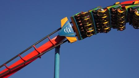 Thrilling Fun And Excitement Of Coaster Ride Banco de Imagens - 69168038